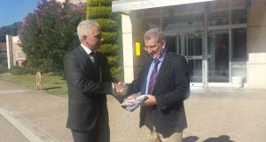 El Consejero de Sanidad visita el Centro con motivo del Día Internacional de la Salud Mental